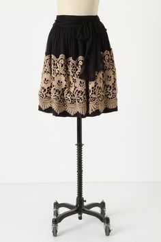 Burlapp: Darjeeling Skirt. Wide Lace on pressed and pleated chiffon, over a silky underlay. Chiffon Sash. Side zip http://images.anthropologie.com/is/image/Anthropologie/19724673_001_c?$redesign-zoom-5x$