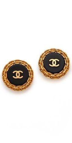 Check out ** WGACA Classic Classic Chanel Edge Earrings   SHOPBOP