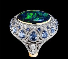 To reach perfection, the House of Gilan displays an unprecedented care for the formulation of each process, including their sources of inspiration from the world's cultural heritage and the quality of the equipment that is being use Opal Jewelry, High Jewelry, Jewelry Art, Antique Jewelry, Jewelry Rings, Jewelry Design, Unique Rings, Beautiful Rings, Faberge Eier
