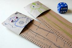 So the last little project in our toilet roll tube craft series was this super simple but extremely awesome game. Roll the dice, and see who can. Craft Activities For Kids, Math Activities, Diy Crafts For Kids, Craft Ideas, Cardboard Tube Crafts, Paper Crafts, Activity Bags, Counting Games, Preschool Math