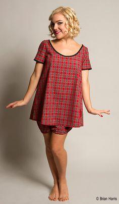 Tartan Nightdress, Babydoll Nightdress, Plaid Pyjamas, Vintage Style Nightshirt, Christmas Pyjamas, Size S-XXL by Dollydripp on Etsy https://www.etsy.com/listing/162035680/tartan-nightdress-babydoll-nightdress