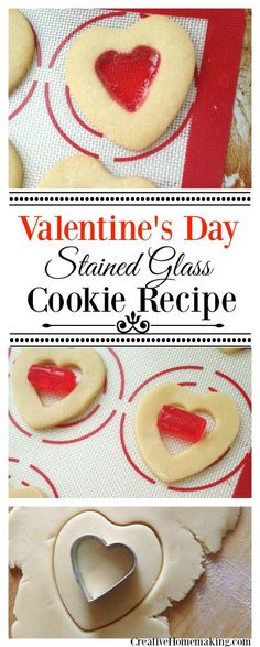 These super cute stained glass heart cookies are a fun treat to make for Valentines Day.