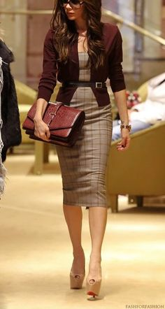 Great fashion ensemble for office work.
