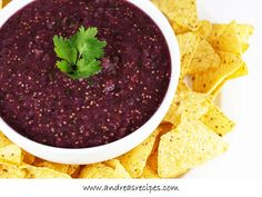I need some recipes for all of our purple and green tomatillos!  Andrea Meyers - Oven-Roasted Tomatillo Salsa with purple tomatillos