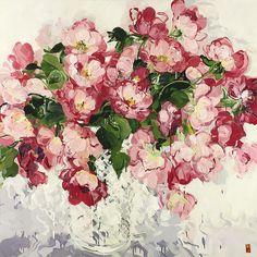 Love, Love, Love, 2012, acrylic on canvas, 132 x 132 cm (Sold)