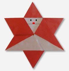 Origami Santa star