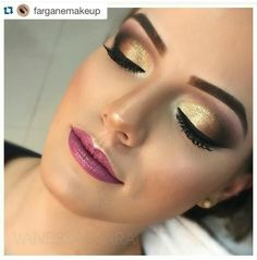 Maquiagem dourada (by: @vanessapcarra)