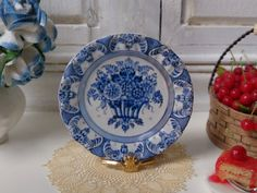 Blue Delft Dollhouse Plate