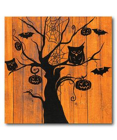 Look what I found on #zulily! Night Owls Gallery-Wrapped Canvas #zulilyfinds