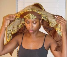 Scarf Tying Techniques | How Do I… Tie A Large Satin Head Scarf?