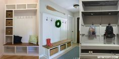 Inspiring Mudroom Entryway Decoration Ideas, Browse an immense selection of the ideal laundry room design storage and customization ideas it is possible to find in For decorating purposes, . Mudroom Bench Plans, Shoe Storage Bench Entryway, Mudroom Cubbies, Entryway Bench Storage, Entry Bench, Bench With Storage, Entryway Decor, Entryway Ideas, Coat Rack Bench