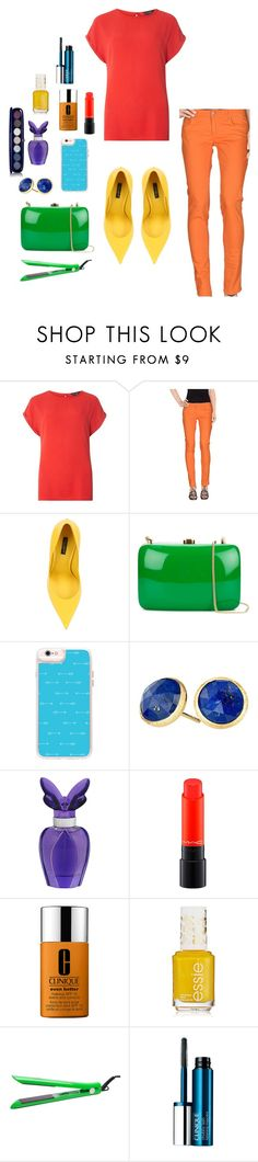 """""""Rainbow"""" by khyara on Polyvore featuring Dorothy Perkins, Dondup, Dolce&Gabbana, Rocio, Casetify, Marco Bicego, Mariah Carey, MAC Cosmetics, Clinique and Brilliance New York"""