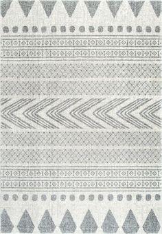 Rugs USA Grey Bosphorus Henna Tribal Bands Rug