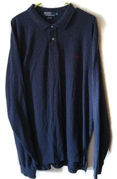 Polo Ralph Lauren Mens 2XL Sweater Pullover Button Blue  #PoloRalphLauren #Polo