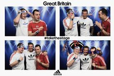Hilarious - David Beckham surprises people in a GB photo booth