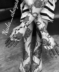 Beautiful Henna Designs of Eif for Hands Arms Feet and Legs