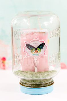 Gift Packaging: Mason Jar Gift Card Holder — Pink Paislee