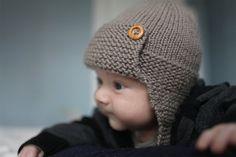 Aviator Hat Knitting Pattern PDF Knitting Pattern REGAN