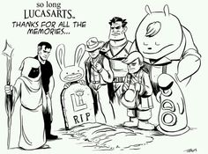 Disney closed down LucasArts, the company that made the greatest adventure games ever. Adventure Games, Greatest Adventure, Teach Me English, Day Of The Tentacle, Eddie The Head, Lucas Arts, Video Game Art, Video Games, Star Wars Facts
