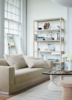 Offering the island-like sanctuary of a large chaise lounge, the versatility of a sofa bed, and the storage of a cupboard, the Havana Sleeper Sofa with Storage (2004) readily adapts to the demands of modern living.