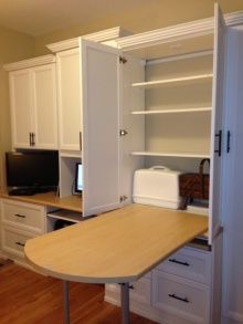 Home Office and Sewing Room Combo / I need a fold out table like that!