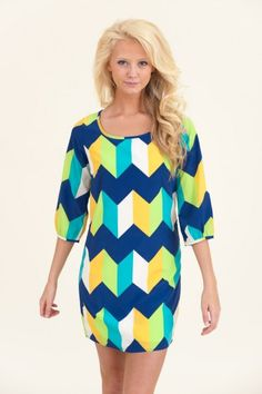 All I Want Is Everything Tunic-Blue $44.00