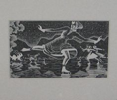 My favorite little woodblock print, by a Denver artist from way back when.