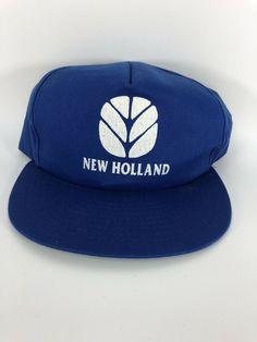 0dbda0103b1e VTG New Holland Tractor Farmer SnapBack Hat Cap Farm Equipment Made In USA   fashion