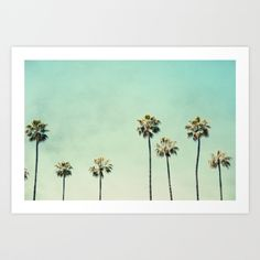 Buy Palm Trees Art Print by Bree Madden . Worldwide shipping available at Society6.com. Just one of millions of high quality products available.