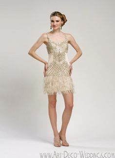 Fun flapper dress.  I want a dress change for the reception, something that I can comfortably dance in.