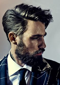 Good hair and beard; very few men are able to pull this off, but those who can got life nailed.