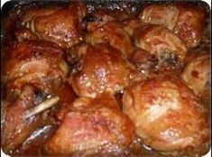 Receita de Sobrecoxas Assadas - Fácil e Rápido - 8 unidade(s) de sobrecoxa de frango , 1 bisnaga ou 1 colher rasa de chá de catchup , 1 envelope de creme de...