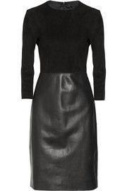 The RowFrehnah suede and leather dress