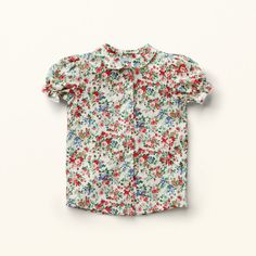 VERONICA Nostalgic multi floral patterned blouse with small puff sleeves and Peter Pan collar from MISS LITTLE Verona, Floral Tops, Floral Prints, Peter Pan Collars, Girls Blouse, Full Circle Skirts, Puff Sleeves, Jean Shirts, Different Patterns
