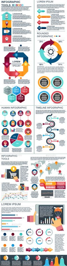 Big Set of Infographic Elements - Vector EPS, AI Illustrator