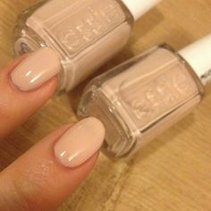 Left: Essie Topless and Barefoot  Right: Essie Spin the bottle
