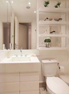 Banheiro espelhos                                                                                                                                                      Mais Upstairs Bathrooms, Decoration, Beautiful Homes, Bathtub, Mirror, Ideas, Furniture, Home Decor, Architecture