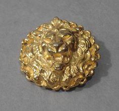 Image of Lion Head Brooch