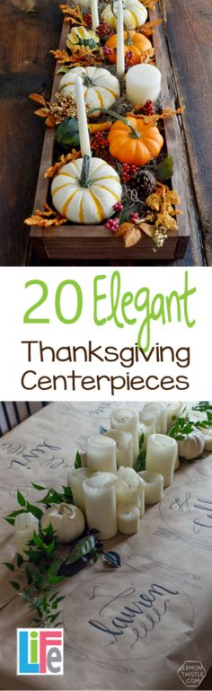 Some are simple, some extravagant but they all are elegant and beautiful.  Take a minute and get inspired on this years Thanksgiving centerpiece ideas.