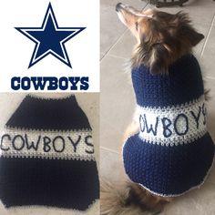 Dallas Cowboys Dog Sweater, Dog Sweater, Cowboys Dog Hoodie, Cowboys Dog Sweater, Dallas Cowboys, Dallas Cowboys Dog, Cowboys Football by TheHookster on Etsy
