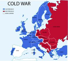 Cold war europe military alliances map en  Cold War  Wikipedia