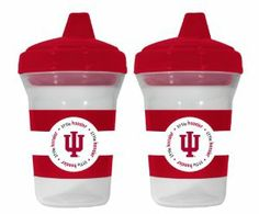 NCAA Indiana Hoosiers 2 Pack Sippy Cup by Baby Fanatic. $14.28. Plastic material. These 5 oz. training cups are dishwasher safe and tested for safety.. 3 Months and Up. Baby Fanatic's officially licensed sippy cups are spill-proof and feature team logo and colors.. 2 Sippy Cups. Keep your rookie fan satisfied with this officially licensed Sippy Cup 2-Pack. Each 5 oz. sippy cup is spill-proof, dishwasher safe, and decorated with team graphics and colors. The cups are tested...