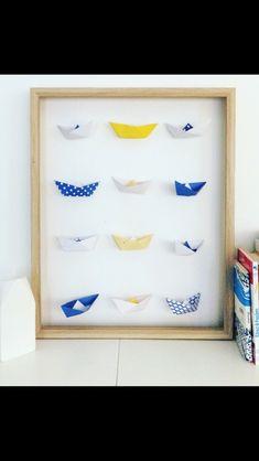 Cadre en origami bateau 29€ sur la boutique Etsy MadeinOrigami