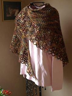 Ravelry: crochetster's Woodland Shawl, #crochet, free pattern, wrap, shawl, #haken, omslagdoek, gratis patroon (Engels)
