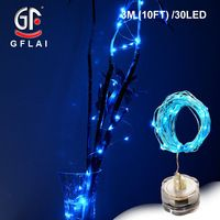 LED String Lights Copper Wire 3M 7FT 30 Blue Light Battery Powered Wedding Table Party Decoration 6 Pcs/Lot Free Shipping Now