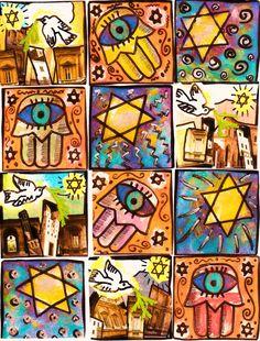 JUDAICA  Starry Night Israel   by SandraSilberzweigArt on Etsy, $18.99