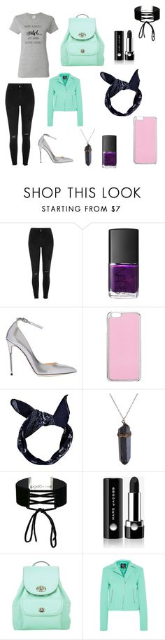 """Untitled #8"" by chandler-jezowski ❤ liked on Polyvore featuring River Island, NARS Cosmetics, Jimmy Choo, Miss Selfridge, Boohoo, Marc Jacobs, Coach and McQ by Alexander McQueen"