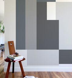 color blocking wall via simply grove