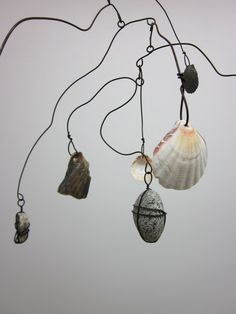 Natural Objects Beach Shell  Mobile by CharestStudios on Etsy, $66.00