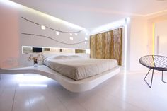 I love the design of this bedroom i just need it to be in neon blue